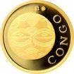 Zlatá investiční mince Maska z regionu Kongo - Teke 1/10 Oz 2015