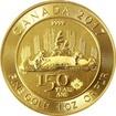 Zlatá investiční mince Voyageur 1 Oz 150 let Kanady 2017