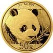 Zlatá investiční mince Panda 3g 2018