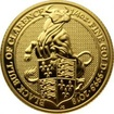 Zlatá investiční mince The Queen's Beasts The Black Bull 1/4 Oz 2018