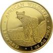 Zlatá investiční mince Leopard Somálsko 1 Oz