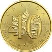 Zlatá investiční mince Maple Leaf 1 Oz - 40. výročí 2019