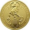 Zlatá investiční mince The Queen´s Beasts The Yale 1/4 Oz 2019