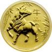 Zlatá investiční mince Year of the Ox Rok Buvola Lunární 1/10 Oz 2021