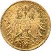 Zlatá mince Desetikoruna Františka Josefa I. Rakouská ražba 1911