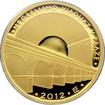 Zlatá mince 5000 Kč Negrelliho Viadukt v Praze 2012 Proof