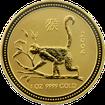 Zlatá investiční mince Year of the Monkey Rok Opice Lunární 1 Oz 2004