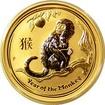 Zlatá investiční mince Year of the Monkey Rok Opice Lunární 1/4 Oz 2016