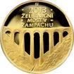 Zlatá mince 5000 Kč Železniční most v Žampachu 2013 Proof