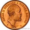 Zlatá mince švédská dvacetikoruna-20 kronor Oskar II. 20 koruna