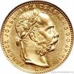 Zlatá mince Osmizlatník Františka Josefa I.-uherská ražba 1890 KB 8 zlatník