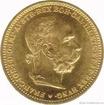 Zlatá mince Dvacetikoruna Františka Josefa I.ročníková ražba 20 koruna