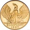 Zlatá mince 100 drachma-Constantine II. 1967-KB 100 drachma