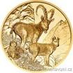Zlatá mince 100 Eur-Kozoroh-rakouská série Wild life 2017 1/2 Oz