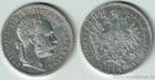 Stříbrný 1 zlatník Františka Josefa I. 1878 1 zlatník