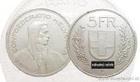 Stříbrný 5 frank Konfederace Švýcarsko 5 frank