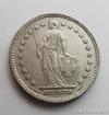 Stříbrný 2 frank  Švýcarsko 1967 B 2 frank