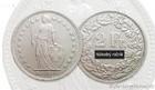 Stříbrný 2 frank  Švýcarsko  -Helvetia 2 frank