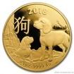 Zlatá mince rok Psa 2018-Lunární série Australské mincovny RAM 1 Oz