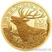 Zlatá mince 100 eur jelen evropský-rakouská série Wildlife 2013 1/2 Oz