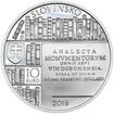 2018 - 10 € - Adam František Kollár – 300. výročie narodenia Ag b.k.