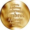 Česká jména - Ambrož - zlatá medaile