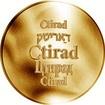 Česká jména - Ctirad - zlatá medaile