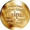 Slovenská jména - Gašpar - velká zlatá medaile 1 Oz