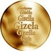 Česká jména - Gizela - zlatá medaile