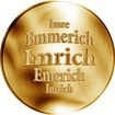 Slovenská jména - Imrich - velká zlatá medaile 1 Oz
