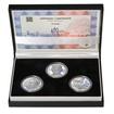 JIŘÍ KOLÁŘ – návrhy mince 500,-Kč - sada tří Ag medailí 1 Oz Proof