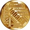 Česká jména - Johana - velká zlatá medaile 1 Oz