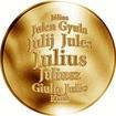 Česká jména - Julius - zlatá medaile