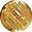 Česká jména - Květoslava - velká zlatá medaile 1 Oz