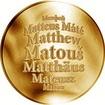 Česká jména - Matouš - zlatá medaile