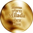 Česká jména - Milada - zlatá medaile