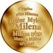 Česká jména - Milena - zlatá medaile
