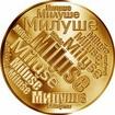 Česká jména - Miluše - velká zlatá medaile 1 Oz