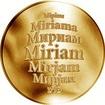 Česká jména - Miriam - zlatá medaile