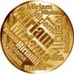 Česká jména - Miriam - velká zlatá medaile 1 Oz