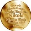 Česká jména - Nikola - velká zlatá medaile 1 Oz