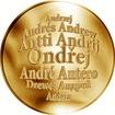 Česká jména - Ondřej - velká zlatá medaile 1 Oz
