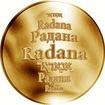 Česká jména - Radana - zlatá medaile