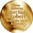 Česká jména - Robert - velká zlatá medaile 1 Oz