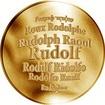 Česká jména - Rudolf - zlatá medaile