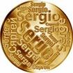 Česká jména - Sergej - velká zlatá medaile 1 Oz