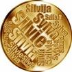 Česká jména - Silvie - velká zlatá medaile 1 Oz