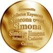 Česká jména - Simona - velká zlatá medaile 1 Oz