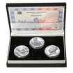 TOMÁŠ BAŤA ml. – návrhy mince 200,-Kč - sada tří Ag medailí 1 Oz Proof