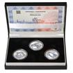 ŽĎÁKOVSKÝ MOST – návrhy mince 5000,-Kč sada tří Ag medailí 1 Oz Proof
